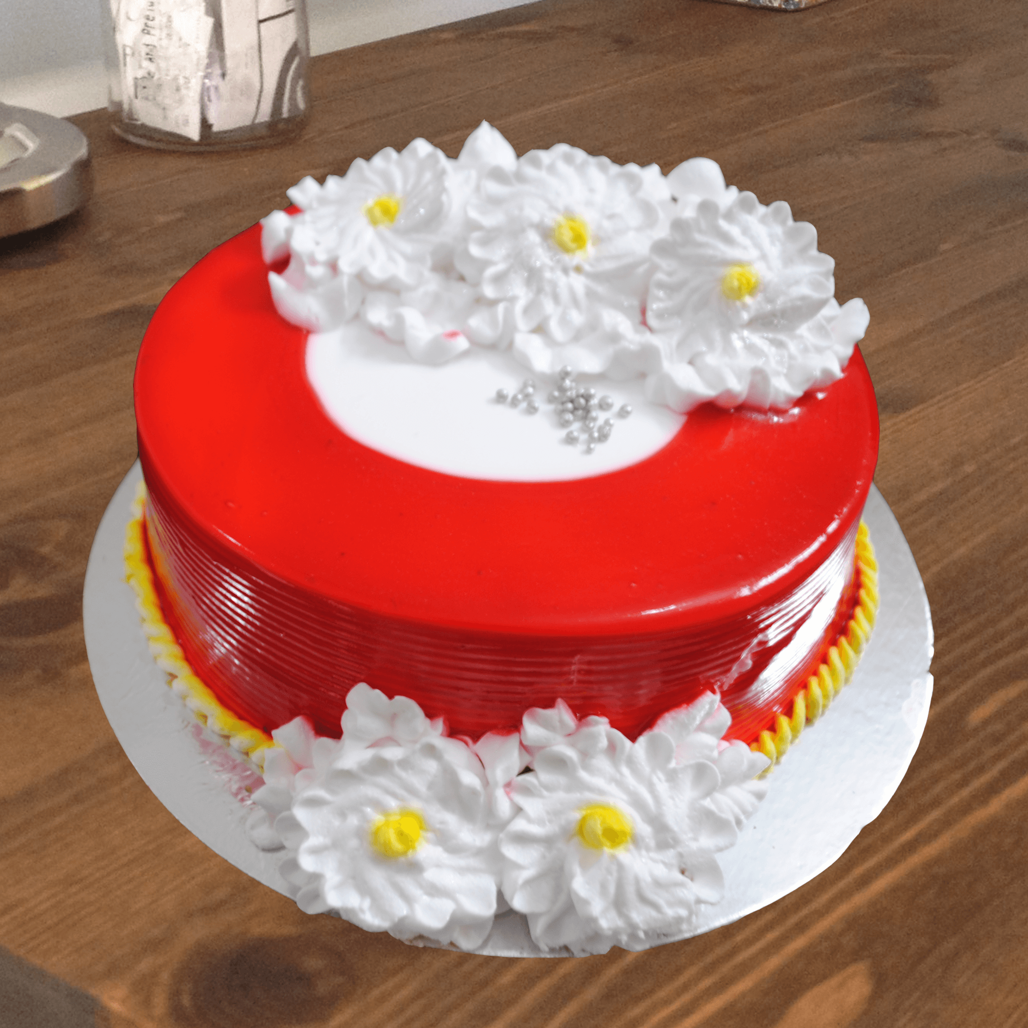 Fancy Strawberry Cake